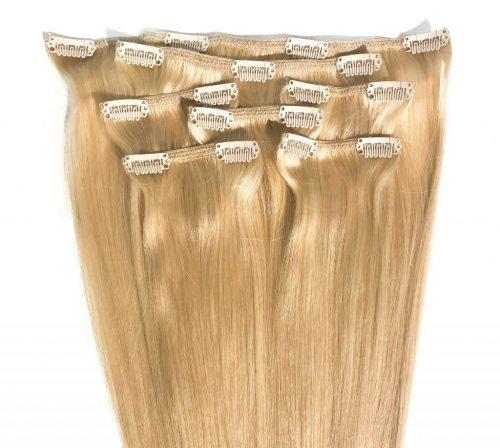 Clips Hair - 7P - Luxury Hair - Rakt - 100g - #24 - Blond