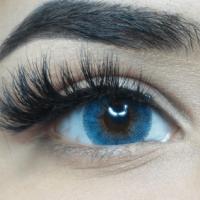 Färgade linser - 1 års - 0.00 styrka - Fairy - Blue