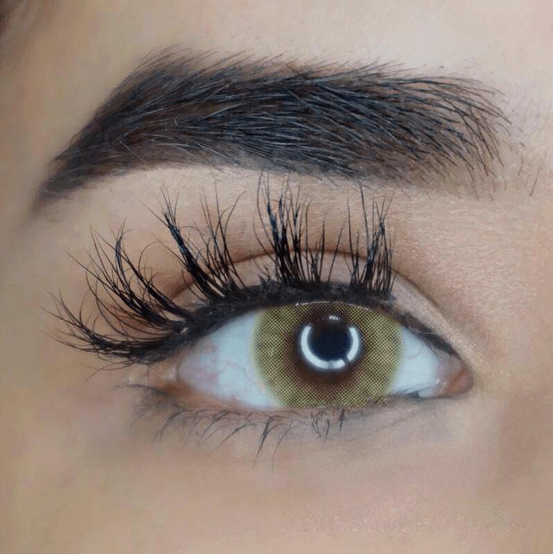 färglinser för bruna ögon