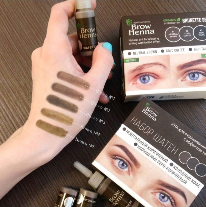 Brow Henna - Brunette Colours