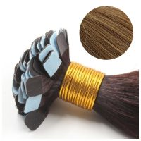 Mini Tape Hair - Rakt - 50g - Honey Brun - #12