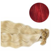 Nail Hair - Wavy - 50g - Röd - #Red