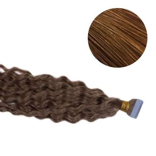 Tape Hair - Curly - 50g - Brun - #8