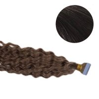 Tape Hair - Curly - 50g - Brunsvart - #2