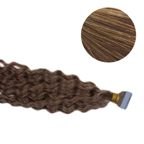 Tape Hair - Curly - 50g - Guld Blond - #16