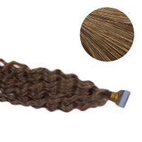 Tape Hair - Curly - 50g - Gyllene Askblond - #18