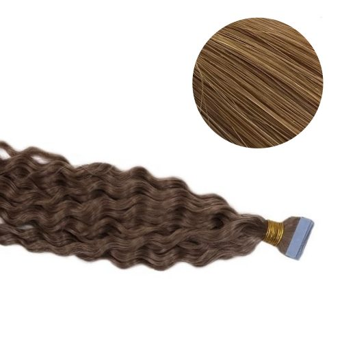 Tape Hair - Curly - 50g - Honey brun - #12