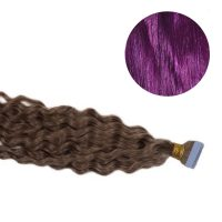 Tape Hair - Curly - 50g - Lila - #Purple