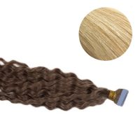 Tape Hair - Curly - 50g - Ljusblond - #60