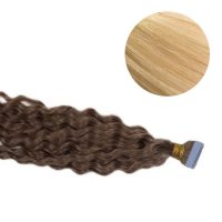 Tape Hair - Curly - 50g - Ljusguldblond - #613