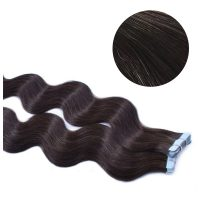 Tape Hair - Wavy - 50g - Brunsvart - #2