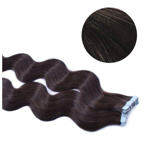Tape Hair - Wavy - 50g - Brunsvart - #2