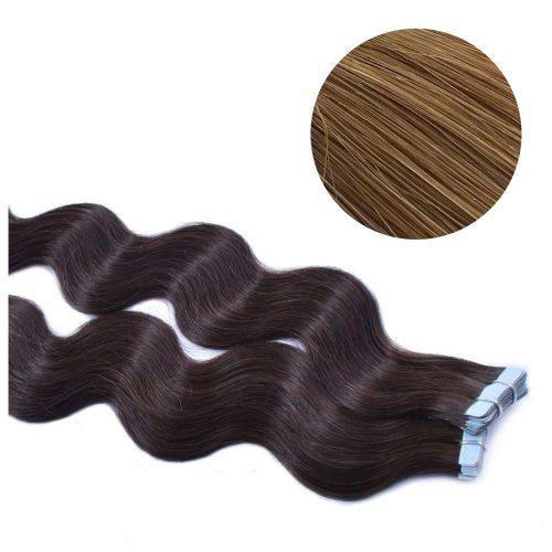Tape Hair - Wavy - 50g - Honey brun - #12