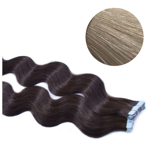 Tape Hair - Wavy - 50g - Kall Ljusblond - #60A