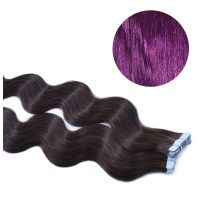 Tape Hair - Wavy - 50g - Lila - #Purple