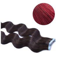 Tape Hair - Wavy - 50g - Mörk Rödbrun - #BUG