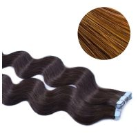 Tape Hair - Wavy - 50g - Mellanbrun - #6