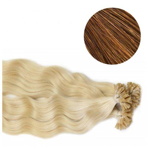 Nail Hair - Wavy - 50g - Mörk Koppar Brun - #30