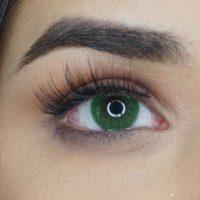 Färgade linser - 1 års - 0.00 styrka - Monica Green