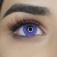 Färgade linser - 1 års - 0.00 styrka - Monica Violet