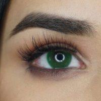 Färgade linser - 1 års - 0.00 styrka - Penni Green